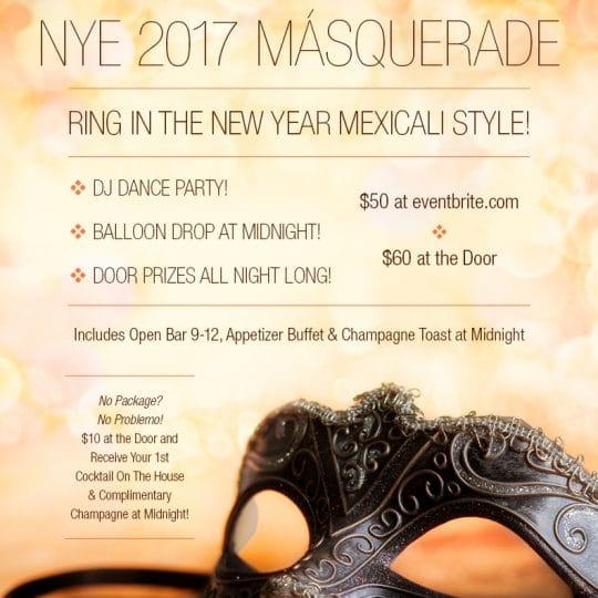 NYE 2017 Másquerade