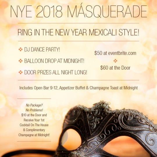 NYE 2018 Másquerade
