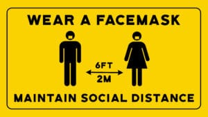 Wear a Facemask Maintain Social Distancing